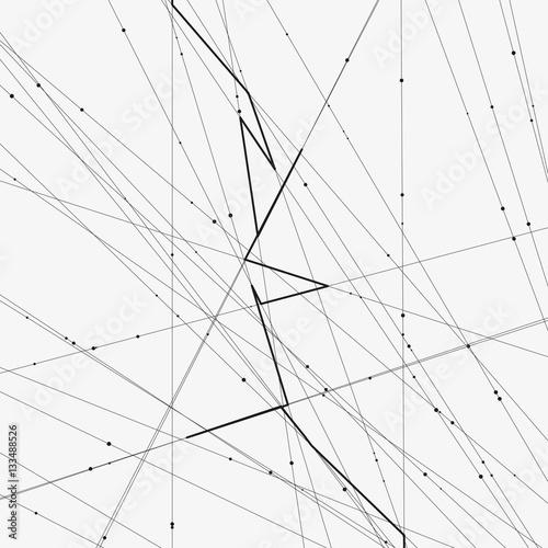 Monochrome Minimalistic Vector Illustration Modern Schematic