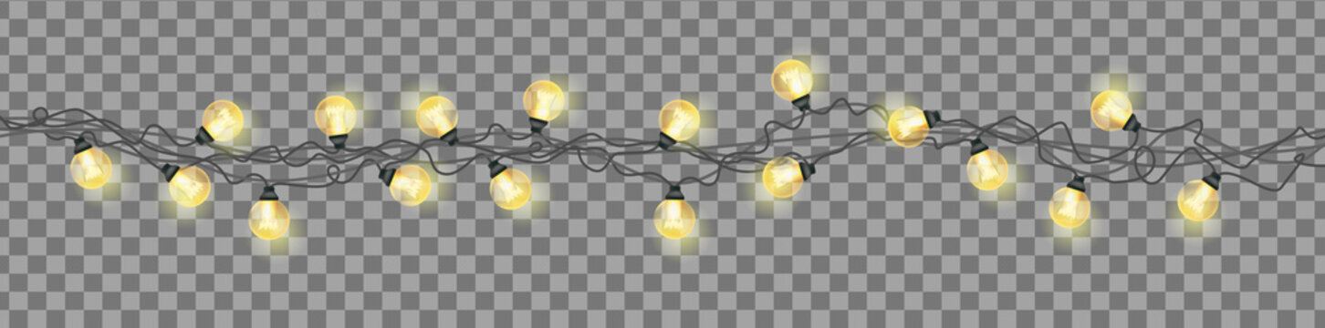 Christmas garland on a transparent background.