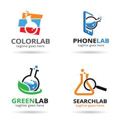 Lab Pack Logo Template Design Vector