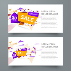 flyer sale colored background