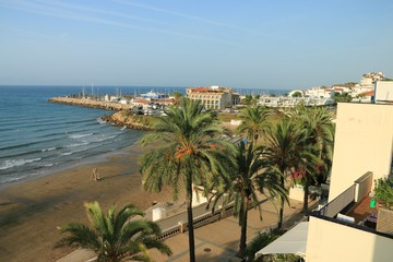 THE BEACH OF SITGES , SPAIN