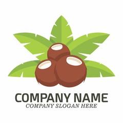 Coconut logo icon vector template