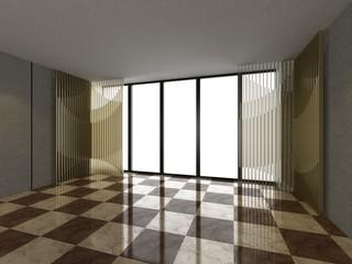 3D Living room, Interior, Empty room