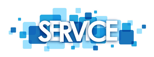 SERVICE vector letters icon