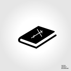 Christian symbol. Christian Bible. Bible silhouette. The Holy Bible