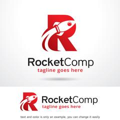 Letter R Rocket Logo Template Design Vector