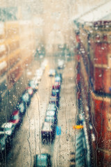 rainy days, rain drops on the window