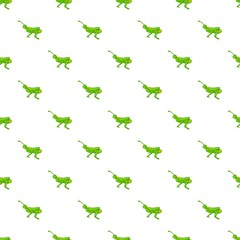 Grasshopper pattern, cartoon style