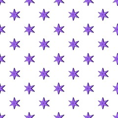 Heavenly six pointed star pattern, cartoon style