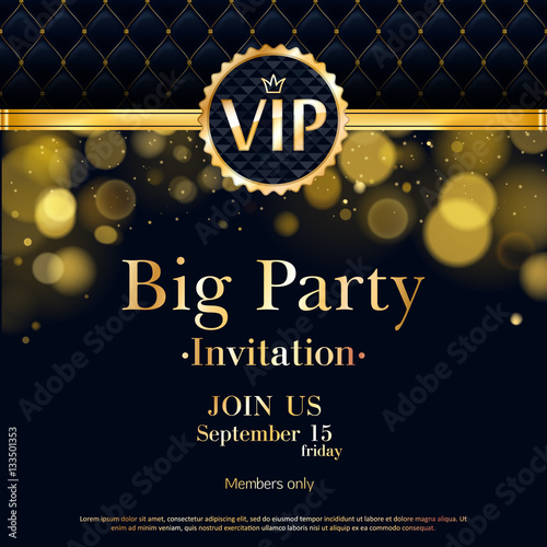 vip invitation card premium design template stock image and