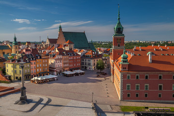 Warsaw. Cityscape image of Old Town Warsaw, Poland during sunny day.
