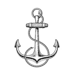 illustration of a nautical anchor