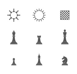 Chess pieces. Icon set