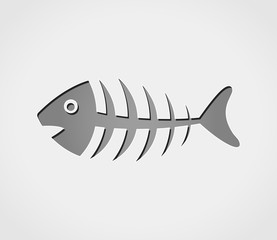 fish grey icon