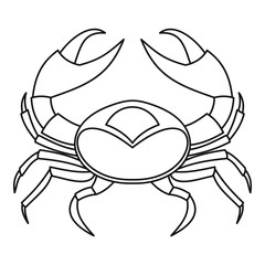 Big crab icon, outline style