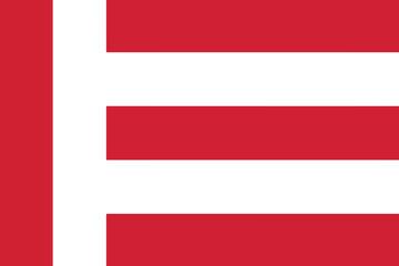 Flag of Eindhoven, Netherlands. Vector Format