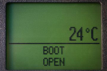 Boot open message and temperature on dashboard