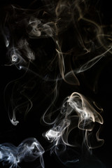 Photo of the smoke on the black background
