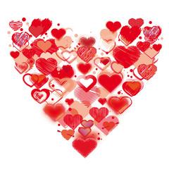 Gemalte Herzen zum Valentinstag