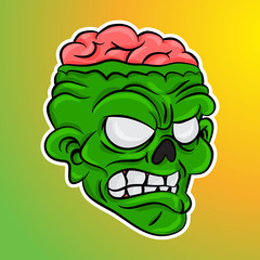 angry zombie cartoon