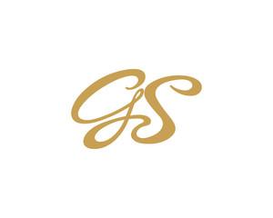 GS Letter Logo Icon Gold Version 1