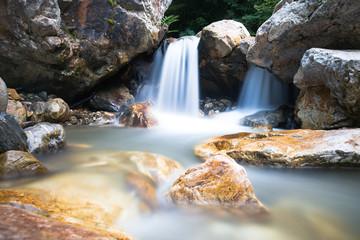 Silent small waterfall - long exposure