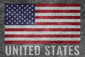 United states (USA) nation flag on jean texture design