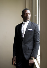 Young african wearing a suit