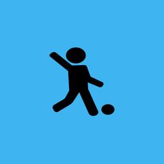 Soccer player icon. flat design