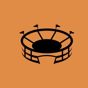 Stadium sign icon, flat design