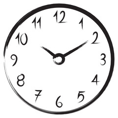 hand drawn clock illustration vector