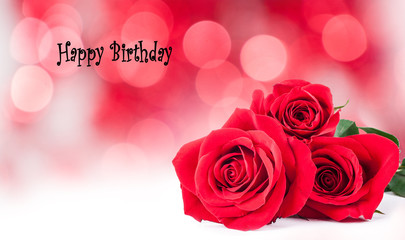 birthday cards with red roses