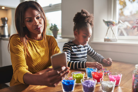 Mother forgetting child because cell phone