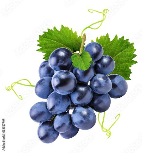 Leinwandbilder grapes isolated on the white