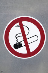 Sign do not smoke