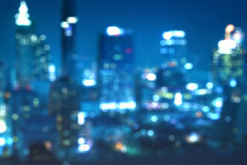 abstract blur background of night cityscape bokeh - can use to display or montage on product