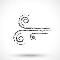 Wind icon isolated on white background. Wind symbol.