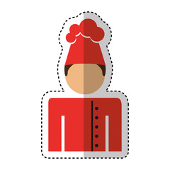 chef avatar character icon vector illustration design
