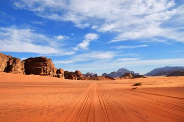 Photo sur Aluminium Desert de sable Wadi Rum desert, Jordan