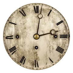 Sepia toned image of an old clock face