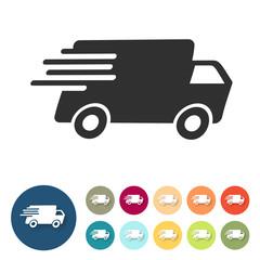 Icon - Schnelle Lieferung - Lastwagen