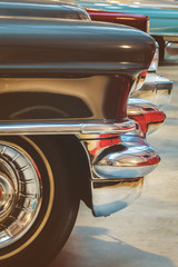 Retro styled image of vintage American cars