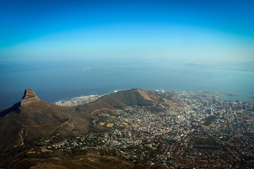 View on the Lion's Head from Table Mountain, Cape Town, South Africa