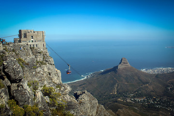 Cable car station on the top of Table Mountain, Cape Town, South Africa
