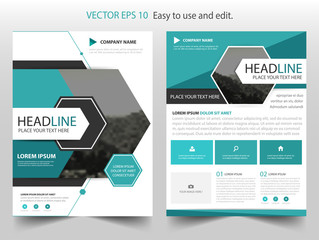 Blue Hexagon Vector business proposal Leaflet Brochure Flyer template design, book cover layout design, abstract business presentation template, a4 size design