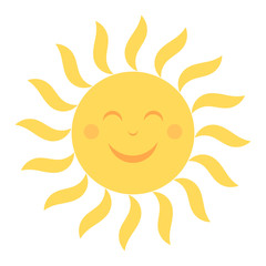 Happy sun illustration
