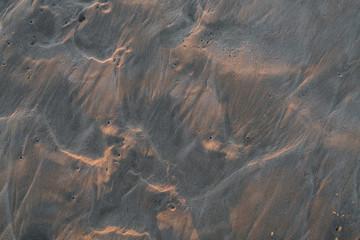 texture of wet sand