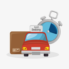 fast delivery set icons vector illustration design