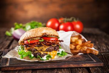 Tasty home made burgers