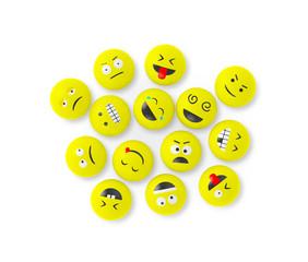 Verrückte Smileys auf einen Haufen